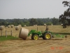Cutting and rolling hay